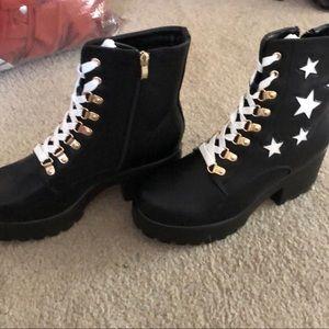 Nasty Gal Shoes - KOI Footwear platform chunky star combat boot